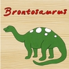 Dinosaur Brontosaurus Canvas Reproduction