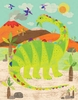 Dinosaur Fun - Diplodocus Canvas Wall Art