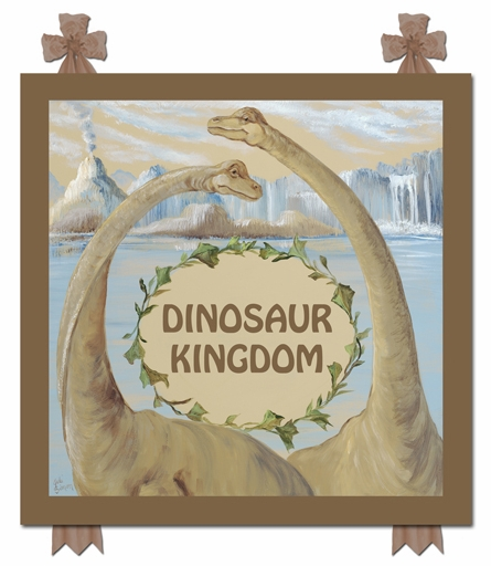 Dinosaur Kingdom Name Canvas Reproduction