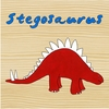 Dinosaur Stegosaurus Canvas Reproduction