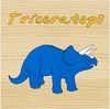 Dinosaur Triceratops Canvas Reproduction