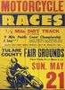 Dirt Track Vintage Wood Sign
