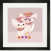Disco Kitty Framed Art Print