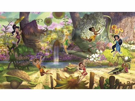 Disney Fairies Pixie Hollow Prepasted Wall Mural
