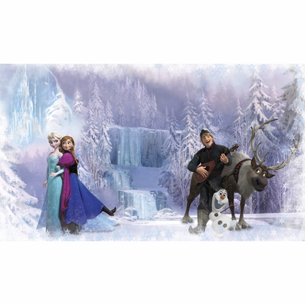 Disney Frozen Chair Rail Prepasted Wall Mural