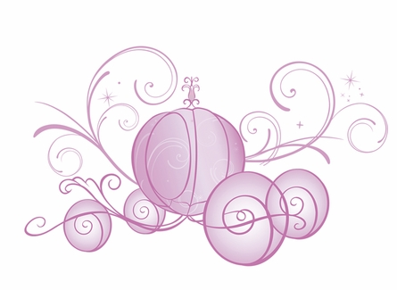 Disney Princess Scroll Carriage Wall Decals