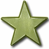 Distressed Star Army Green Drawer Pull