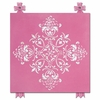 Diva Damask Flirty Fuchsia Canvas Reproduction