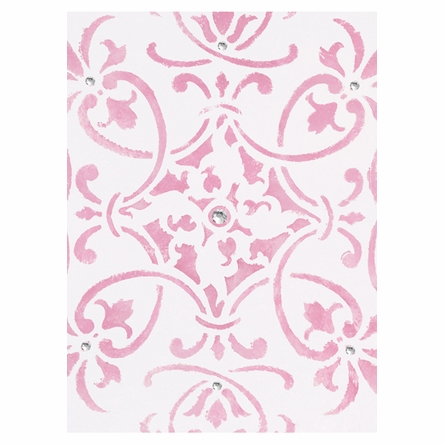 Diva Damask Pearl Flirty Fuchsia Canvas Reproduction
