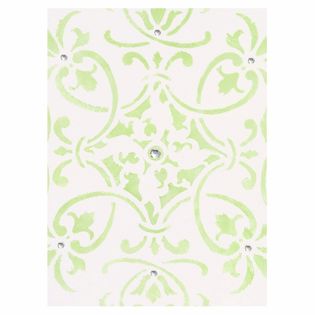 Diva Damask Pearl Peridot Perfection Canvas Reproduction