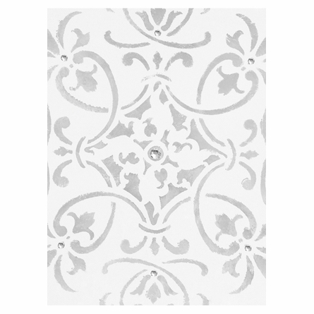 Diva Damask Pearl Posh Pewter Canvas Reproduction