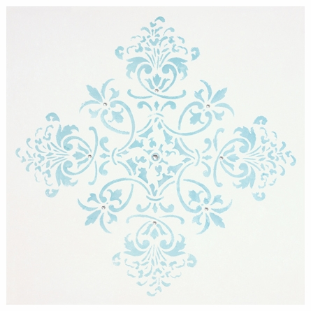 Diva Damask Pearl Tiffany Blue Canvas Reproduction