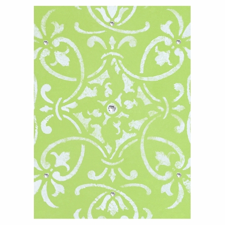 Diva Damask Peridot Perfection Canvas Reproduction