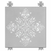 Diva Damask Posh Pewter Canvas Reproduction