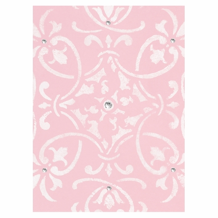 Diva Damask Pretty in Pink Canvas Reproduction