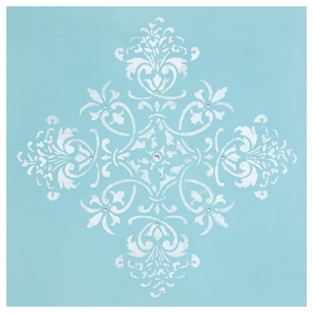 Diva Damask Tiffany Blue Canvas Reproduction