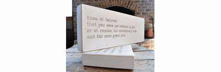 Do You Believe Love Letter Engraved Sign