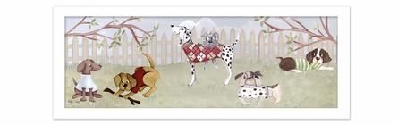 Dog Park Canvas Reproduction