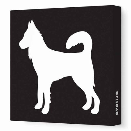 Dog Silhouette Canvas Wall Art
