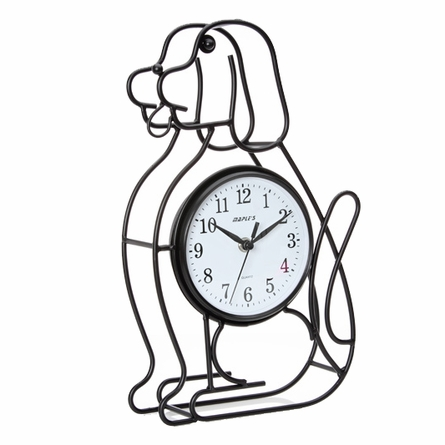 Dog Silhouette Wall and Table Clock