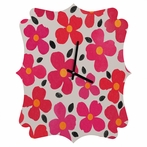 Dogwood Berry Quatrefoil Wall Clock