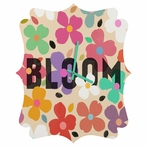 Dogwood Bloom Quatrefoil Wall Clock