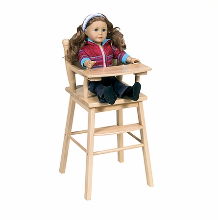 Doll High Chair - Natural