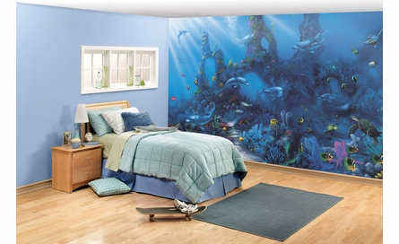 Dolphins' Paradise Wall Mural