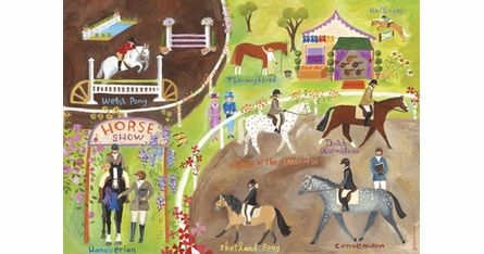 Horse Shows Placemats - Set Of Four