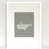 Dotted Whale Art Print