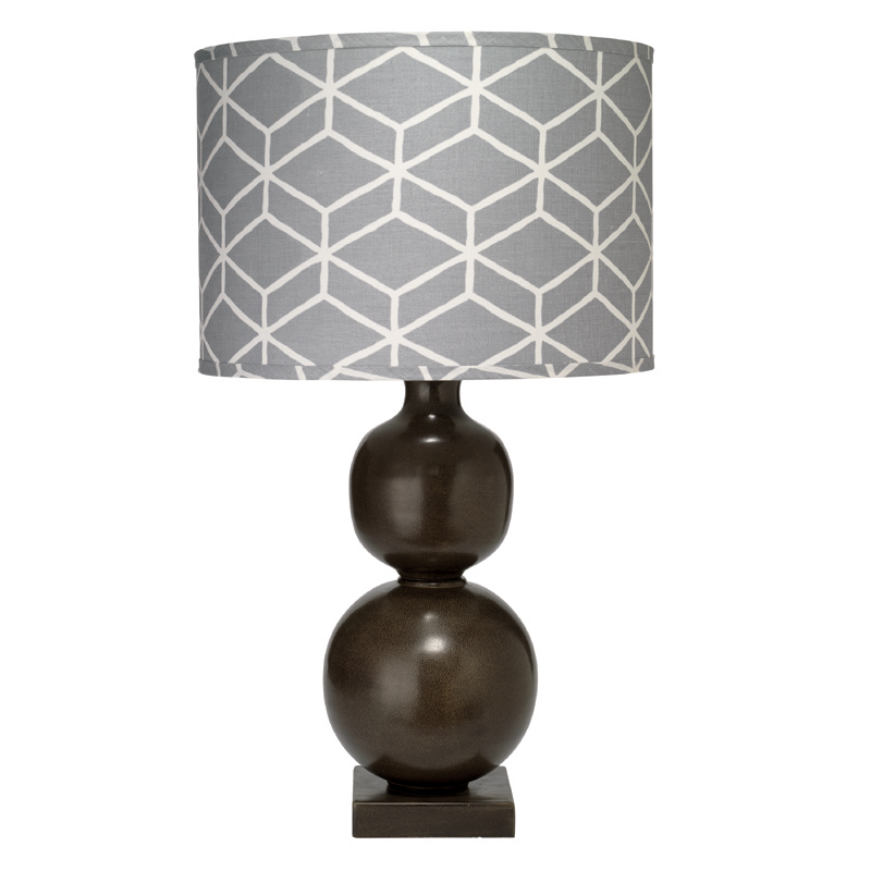 Double Ball Cast Metal Table Lamp in Chocolate by Jamie Young