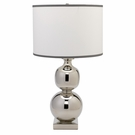 Double Ball Cast Metal Table Lamp in Nickel