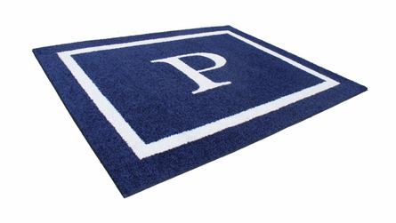 Double Border Monogram Rectangle Rug