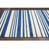 Douglas Striped Rug in Blue