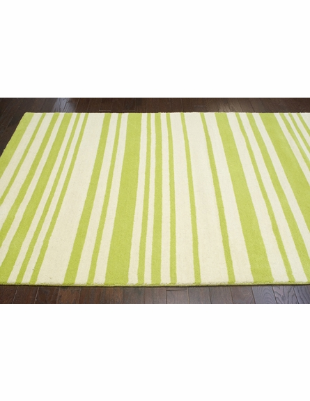 Douglas Striped Rug in Green