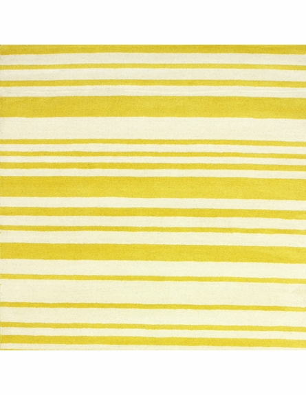 Douglas Striped Rug in Lemon