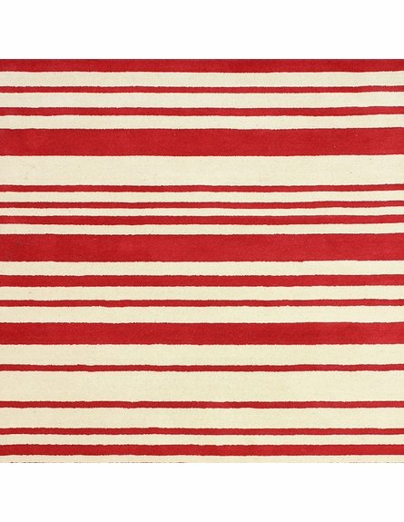 Douglas Striped Rug in Red