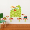 Dragon and Castle Wall Decal