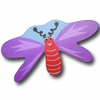 Dragonfly Purple and Blue Back Drawer Pull