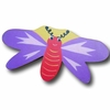 Dragonfly Purple and Yellow Back Drawer Pull