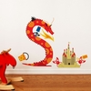 Dragons Day at the Beach Wall Decal