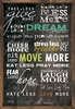 Dream Chalkboard Vintage Framed Art Print