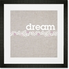 Dream Drifter - Pink Framed Art Print