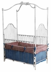Dreaming Bunnies Iron Canopy Crib