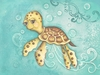 Dreamy Sea Turtle Canvas Reproduction