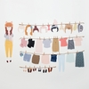 Dress Up Girl Doll Fabric Wall Decals