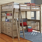 Driftwood Highlands Loft Bed