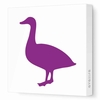 Duck Silhouette Canvas Wall Art