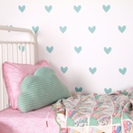 Duckegg Hearts Wall Decals