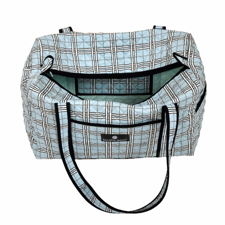 Duffle Diaper Bag Blue Plaid